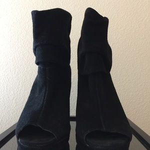 BCBG Generation peep toe ankle boot